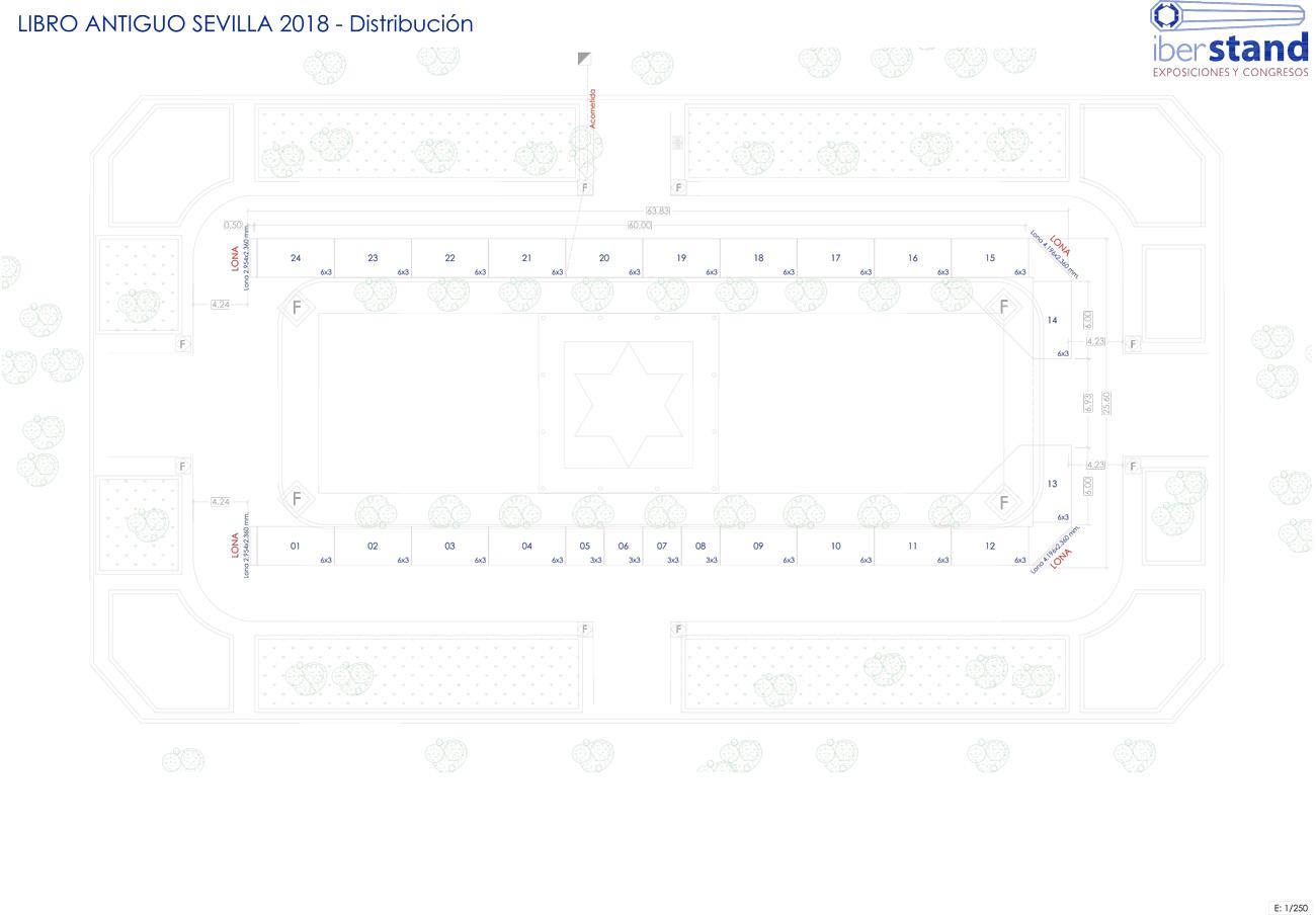 Plano Feria Libro Antiguo Sevilla 2018