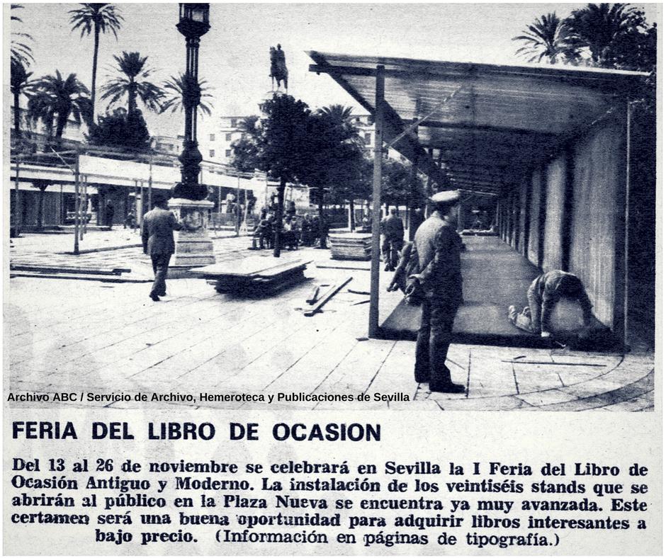 FOTO Archivo ABC 1978 - Feria del Libro Antiguo de Sevilla