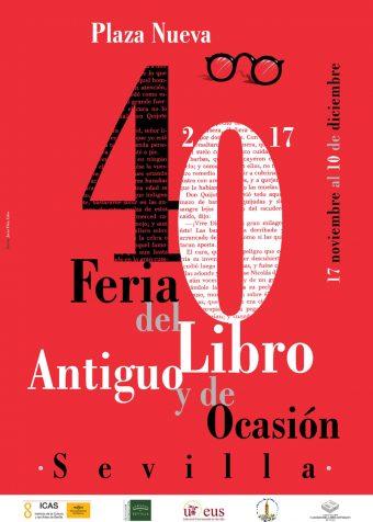 Cartel del la Feria del Libro Antiguo y de Ocasión de Sevilla 2017