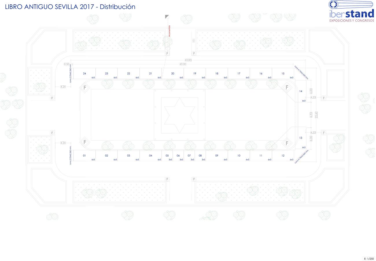 Plano Feria del Libro Antiguo de Sevilla 2017